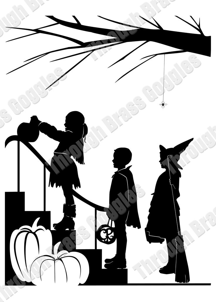 736x1030 12 Best Victorian Halloween Silhouettes Images