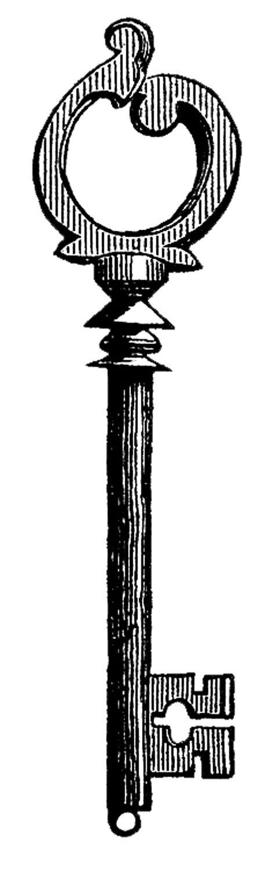 483x1500 Key Victorian Clipart