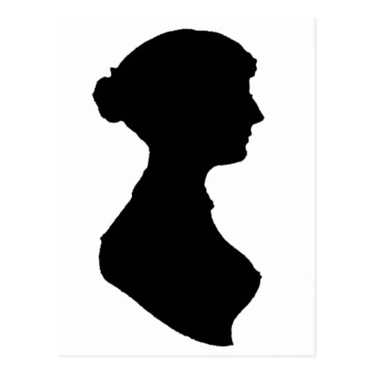 540x540 Victorian Regency Woman Silhouette Portrait Postcard