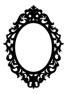 224x313 Victorian Silhouette Frame