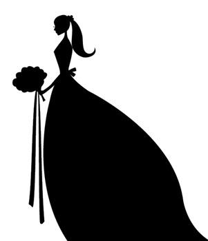 301x350 Bride Clipart Silhouette