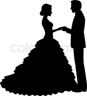 292x320 Silhouette Romantic Couple Lovers Embrace Man And Woman Kiss Flat