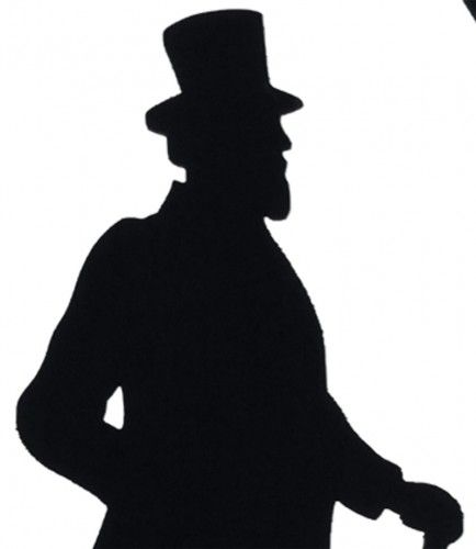 434x500 Victorian Silhouettes Victorian Gentleman In An Oval Display
