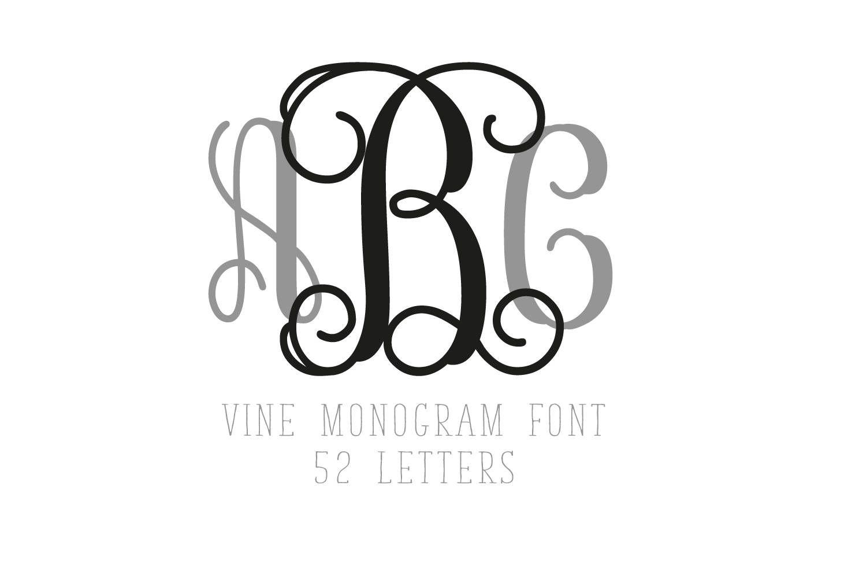 1487x973 Interlocking Vine Monogram Font Svg Collection Interlocking Vine