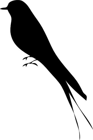 396x595 Bird Stand Tree Vine Silhouette Clip Art Free Vector In Open
