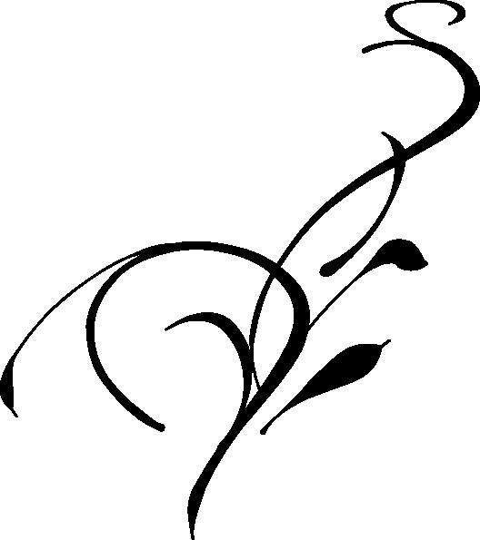 528x595 Silhouette Vine Clip Art