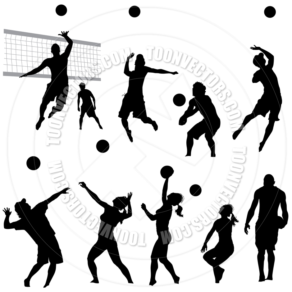 Silhouette Volleyball