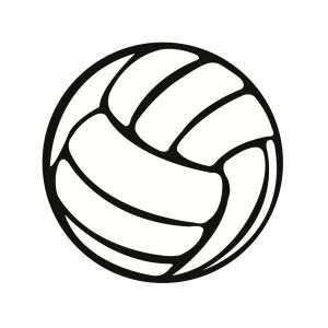 300x300 Freebee Svg Volleyball File Svg File, Volleyball And Filing
