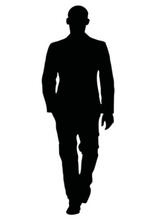 316x448 Person Walking Away Clipart