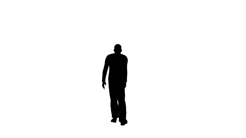852x480 Silhouette Of Man Walking Stock Footage Video 3005101 Shutterstock