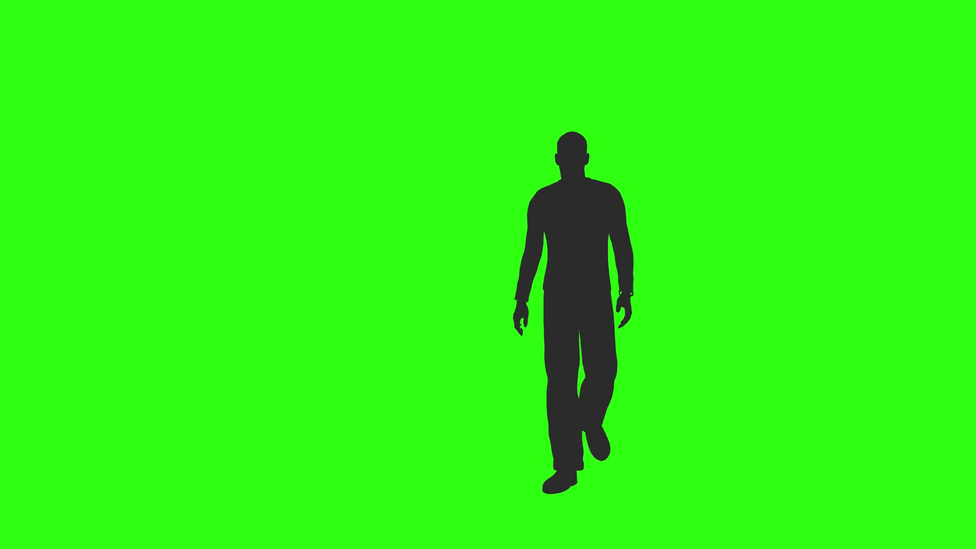 1920x1080 Silhouette Of Man Walking Past Camera Green Screen Motion