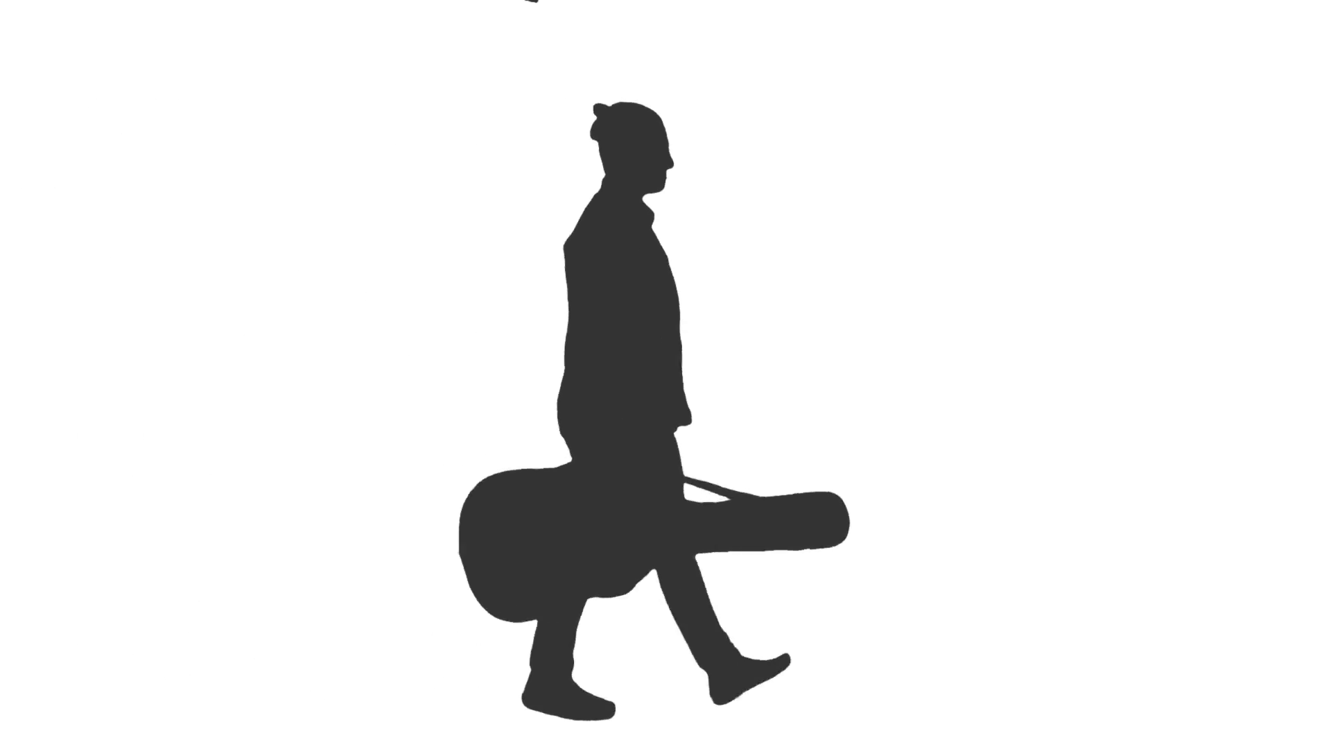 1920x1080 Silhouette Of The Guy With A Guitar Waiting For Something