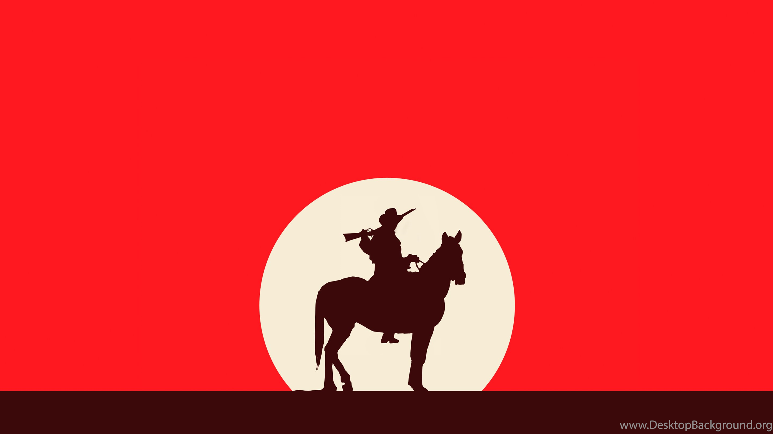 2560x1440 Silhouette Of A Cowboy Game Red Dead Redemption Wallpapers