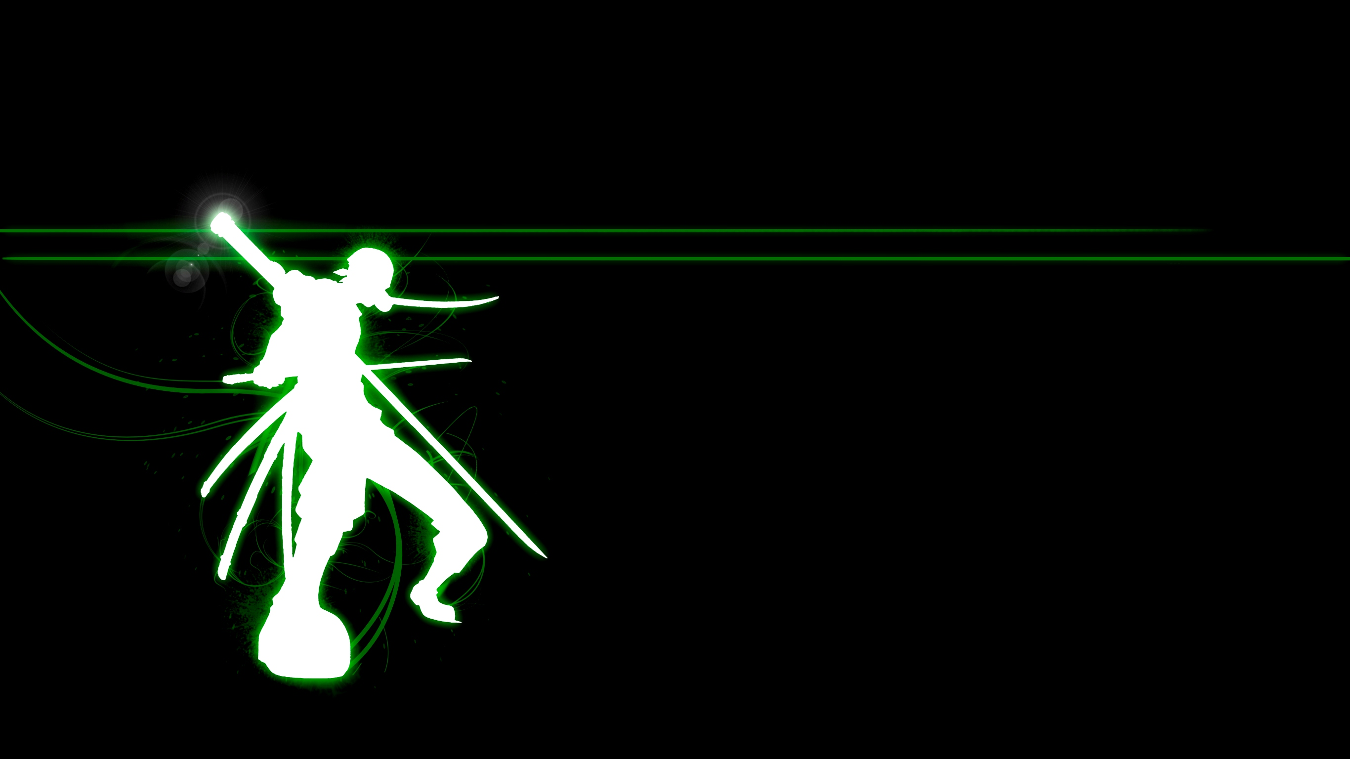 2732x1536 Silhouette Roronoa Zoro Black Wallpaper Anime