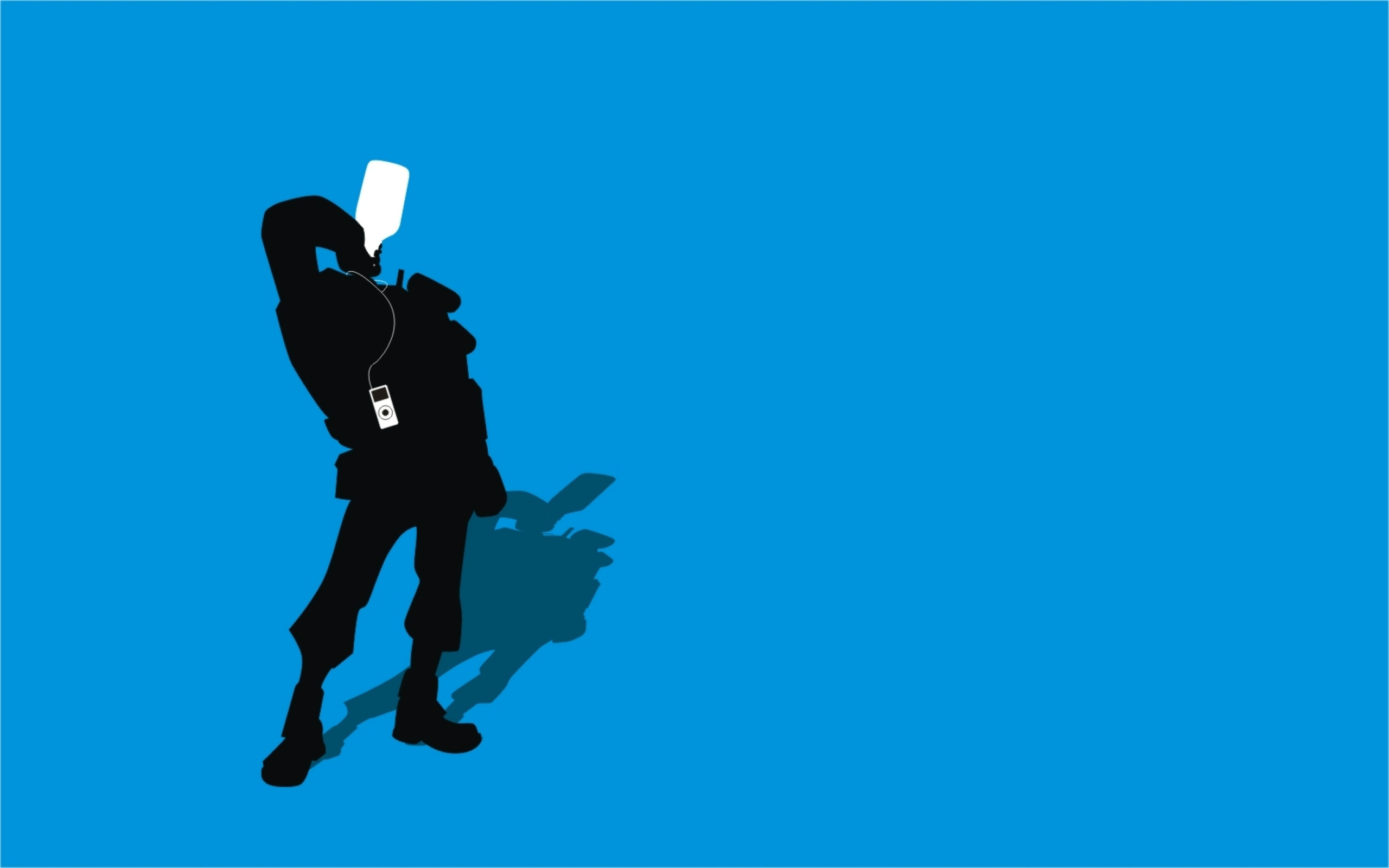 2560x1600 Tf2 Blue Demoman Silhouette Ipod Earbuds 2560x1600 By Cwegrecki