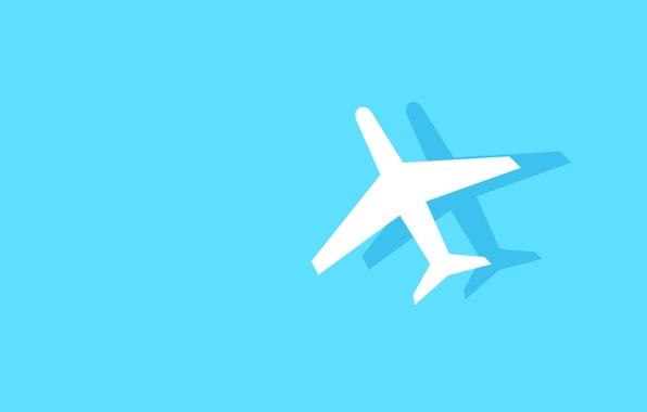 596x380 Wallpaper Aircraft, Aviation, Fuselage, Shadow, Silhouette