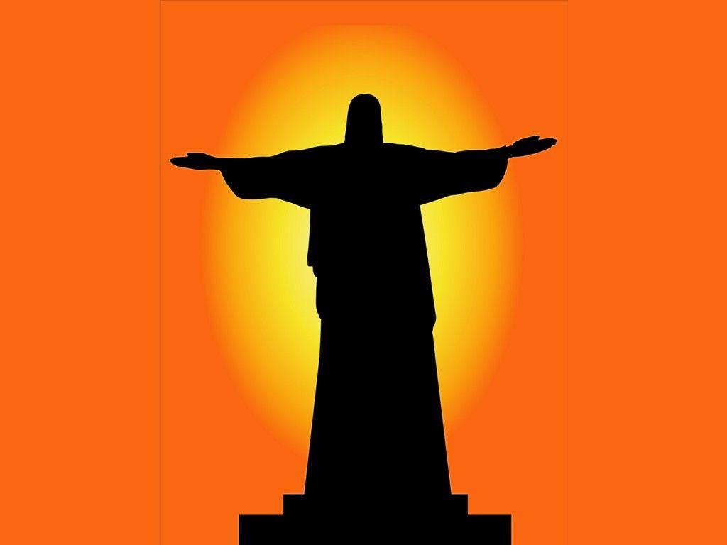 1024x768 Christ The Redeemer Statue Silhouette Christian Wallpaper