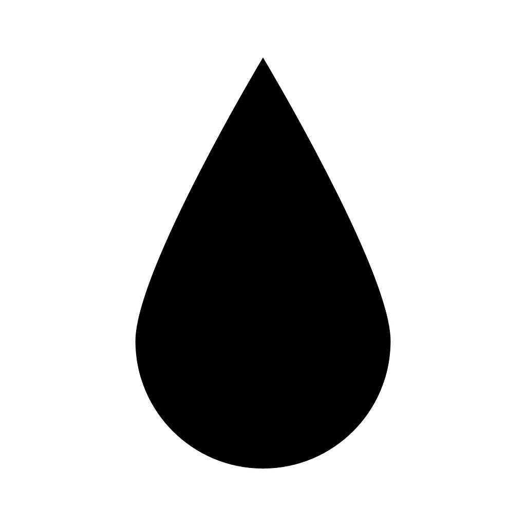 1024x1024 Water Drop Clipart Silhouette 4044338