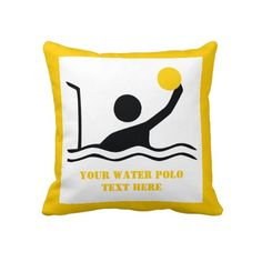 236x236 Water Polo Player Black Silhouette Custom Water Polo, Gifts