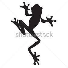 225x225 Frog, Silhouette, Water Colour Using Masking Fluid, Batik Cut