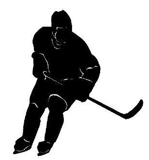 308x330 Hockey Player Silhouette, Wall Vinyl