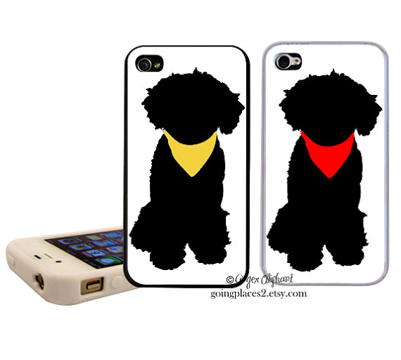 570x512 Portuguese Water Dog Silhouette Iphone Case Fits By Goingplaces