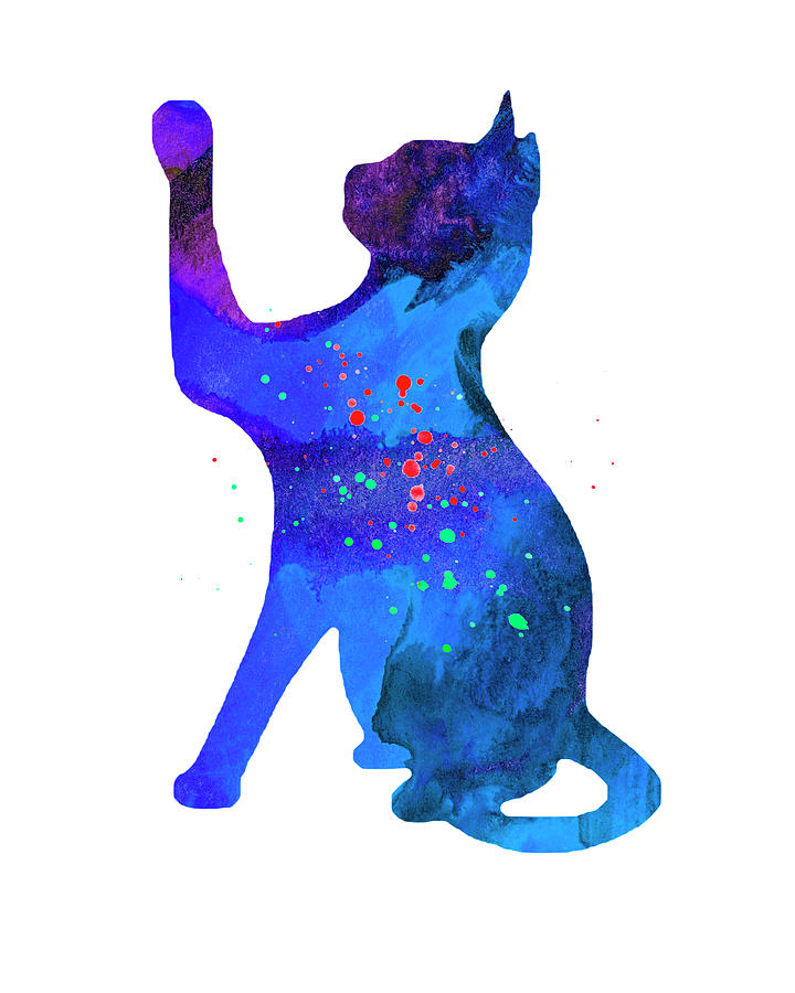 720x900 Cat Watercolor Silhouette Painting Photograph By Donald Erickson