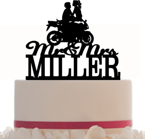 500x480 Custom Wedding Cake Topper Mrnd Mrs With Your Last Name,