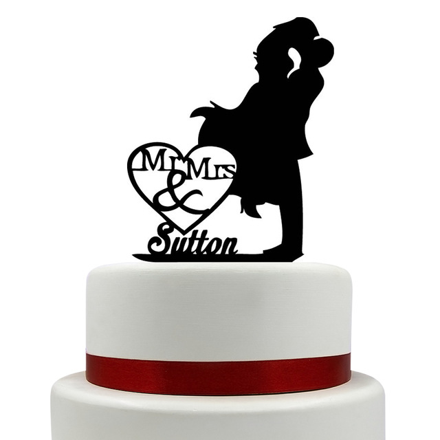 640x640 Mrs And Mr Wedding Cake Topper Silhouette Couple Mr Amp Mrs