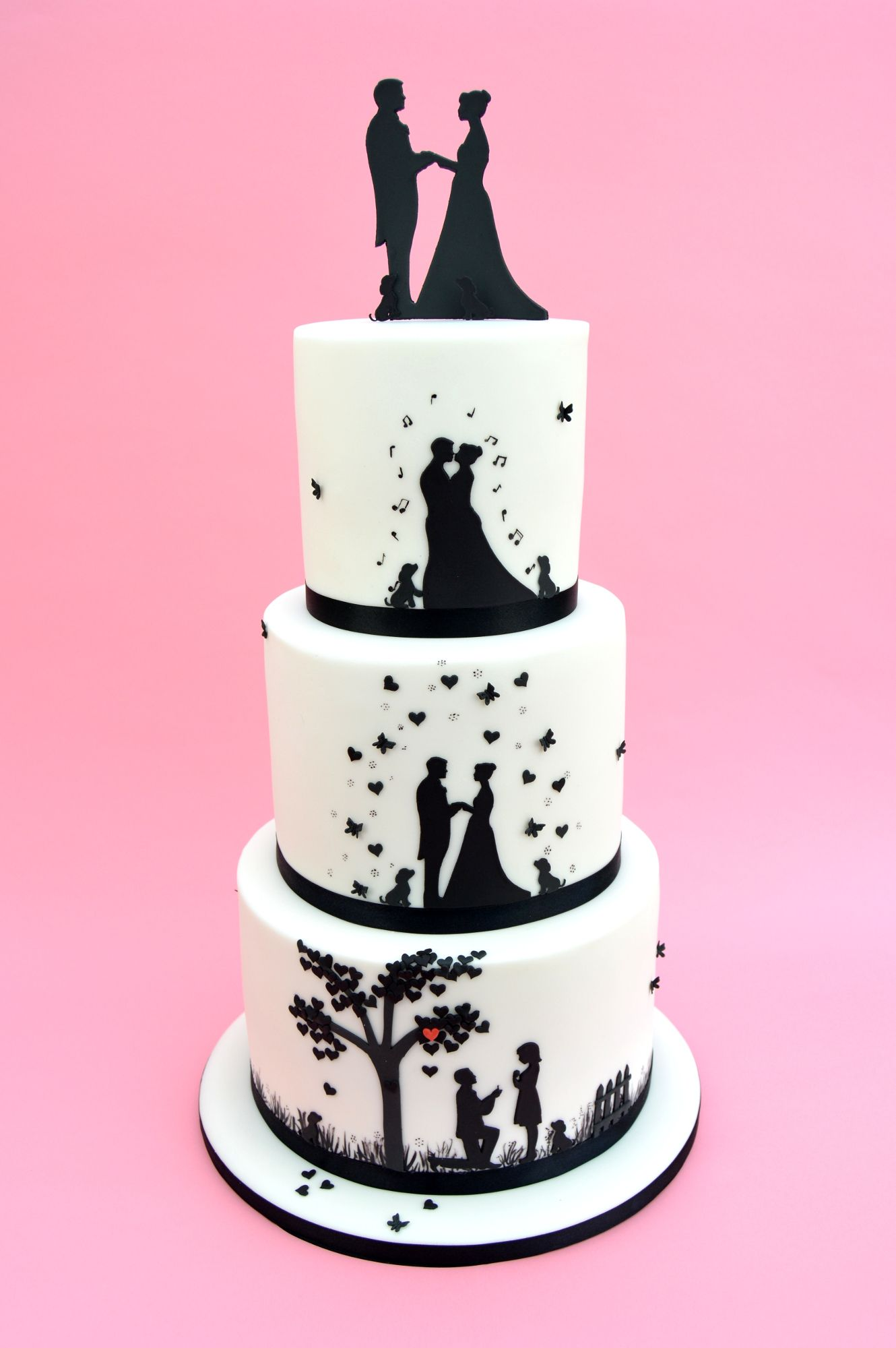 1330x2000 This Cake Uses Our Wedding Silhouette Set And Countryside