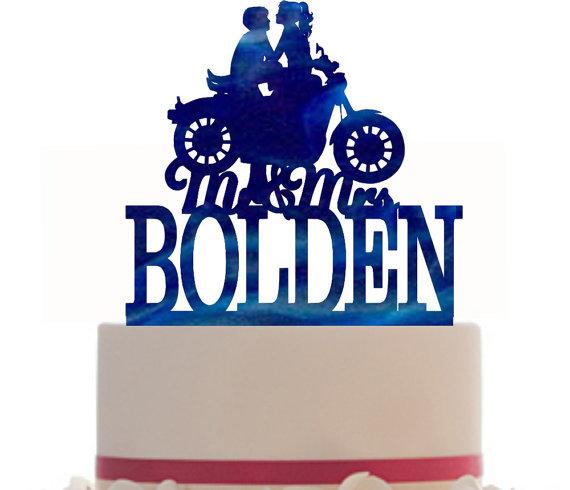 570x490 Custom Glitter Cardstock Wedding Cake Topper , Couple Silhouette