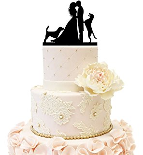 296x320 Wedding Cake Topper With Two Cats Pet Silhouette Home