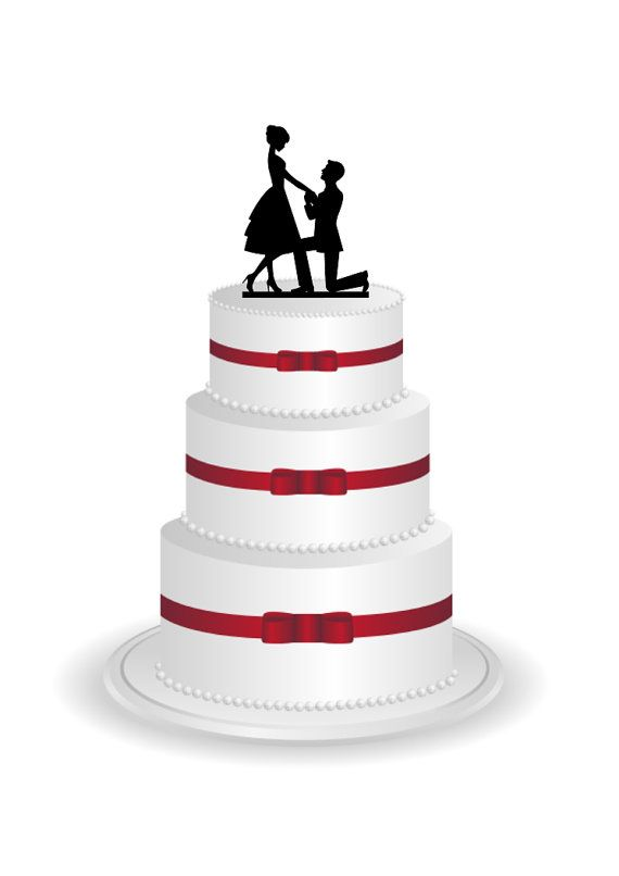 570x806 Bride And Groom Cake Topper Wedding Cake Topper By Branandtabs