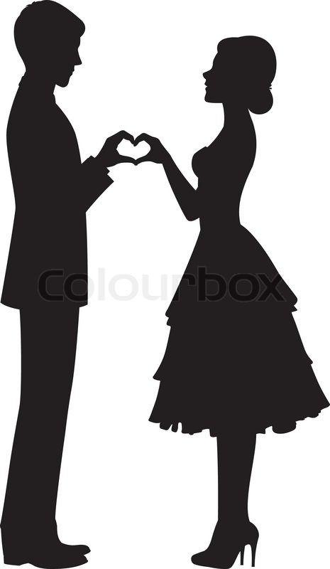 465x800 6921340 Silhouette Of Bride And Groom.jpg Siluety