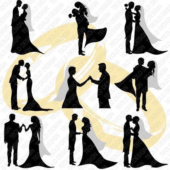 570x570 Wedding Couple Silhouette Wedding Guest By Creativepaperdigital