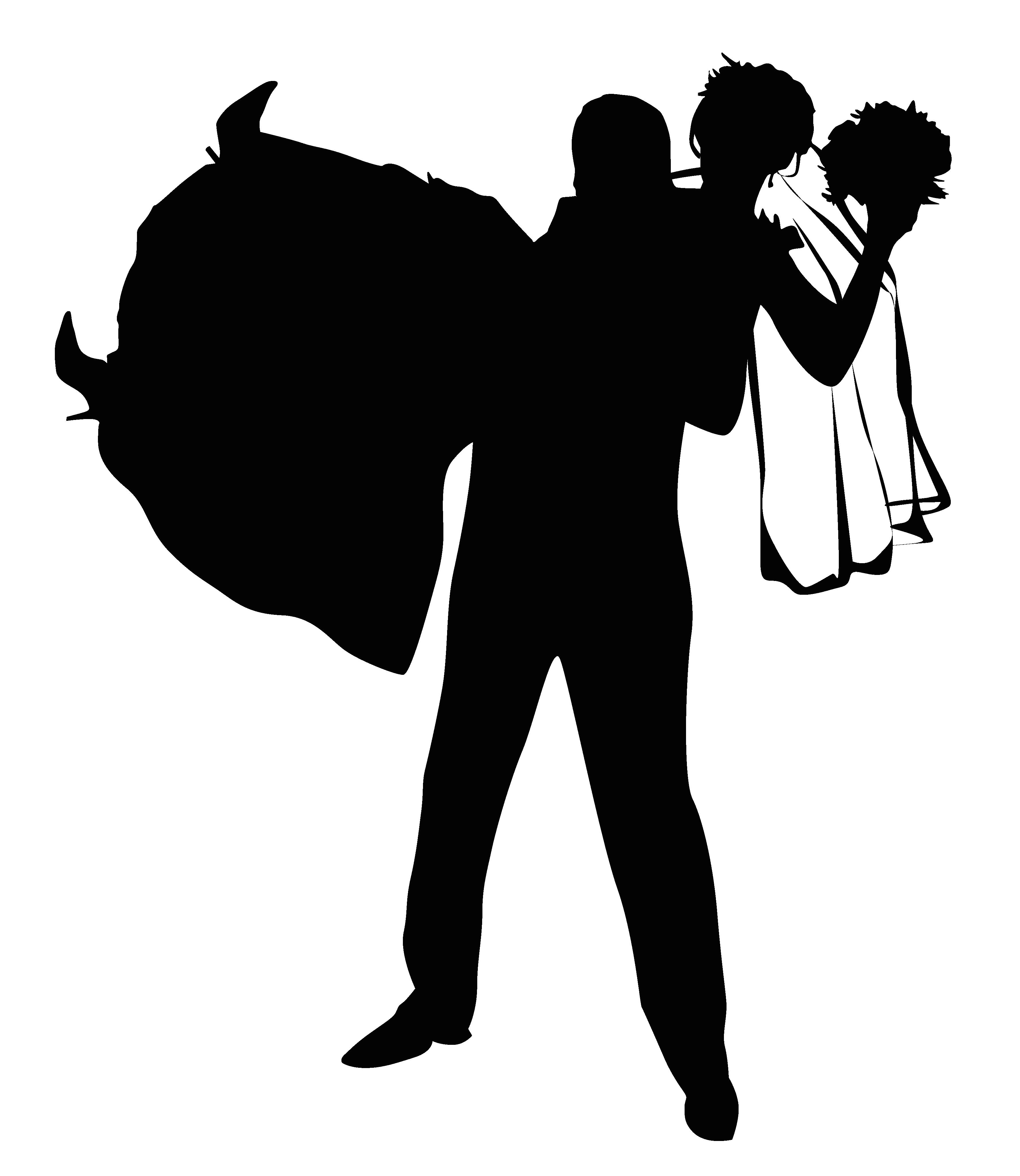 3552x4097 Wedding Invitation Silhouette Illustration