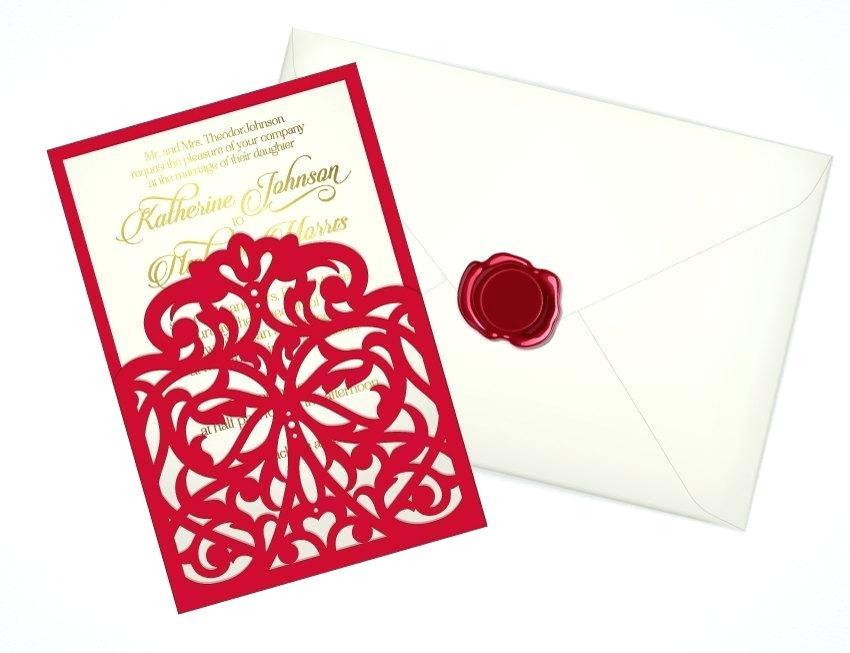 850x653 Wedding Invitations Pocket Envelopes