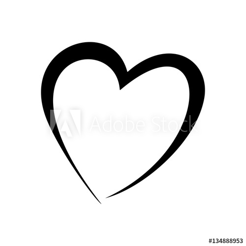500x500 Black Silhouette Hearts Set, Valentine Day Love Adult Vintage