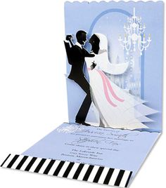236x268 Cake Silhouette With Dove Topper Wedding Invitation And Inserts