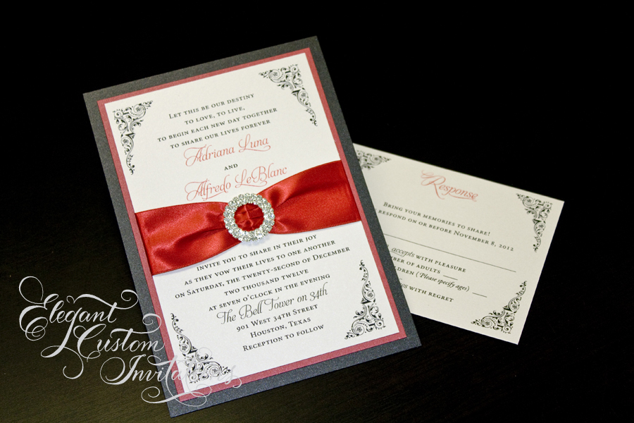 900x600 Custom Wedding Invitations On Silhouette Wedding Bridal Shower