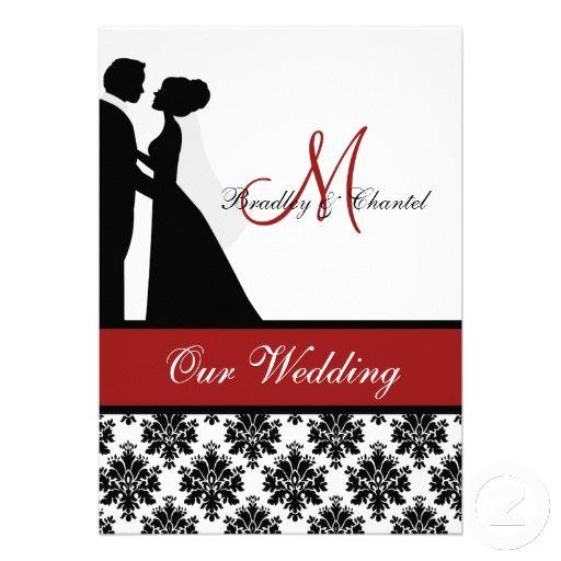 512x512 Red Wedding Couple Wedding Invitation Red Wedding, White Damask