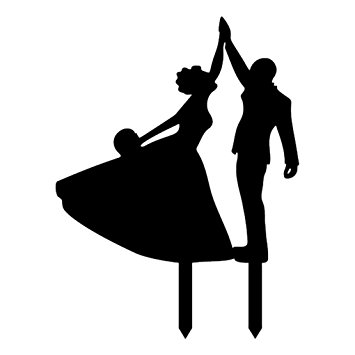 355x355 M Egal Dancing Bride And Groom High Five Silhouette Wedding Party