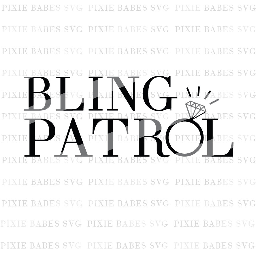 888x888 Bling Patrol Svg Ring Bearer Svg Ring Patrol Svg Wedding