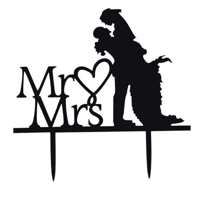 640x640 Classy Romantic Acrylic Wedding Cake Topper Bride Amp Groom