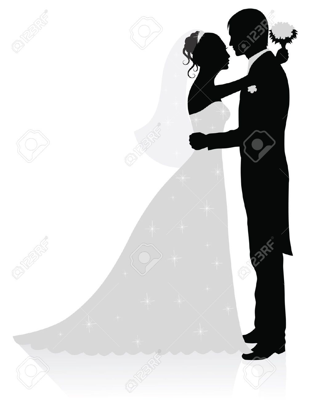 1029x1300 Bride And Groom Silhouette Black And White Bride And Groom