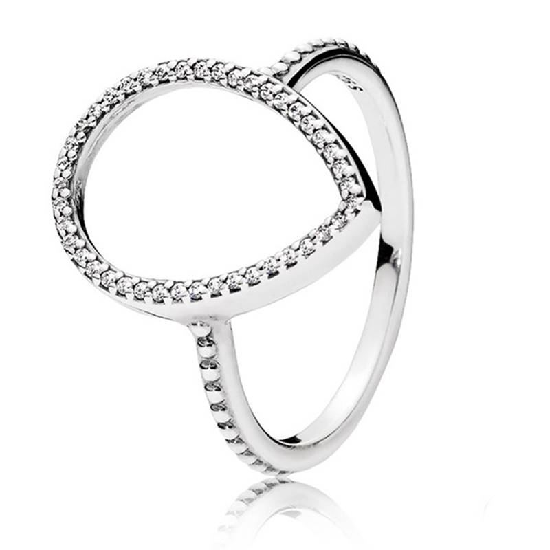 800x800 Original P Ring 925 Sterling Silver Teardrop Silhouette Wedding