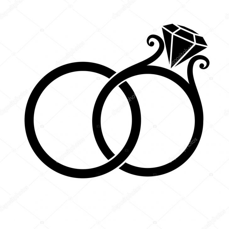728x728 Awesome Wedding Ring Silhouette