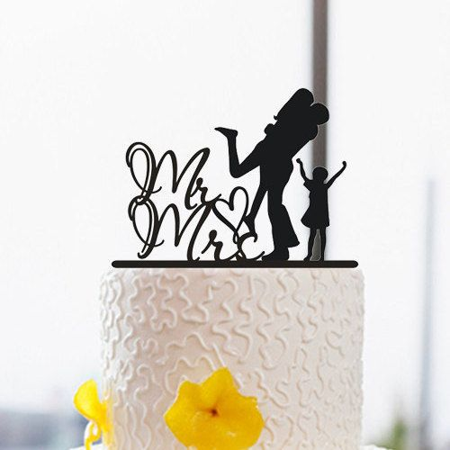 500x500 Silhouette Cake Topper Cake Topper With Kid Mr And By Dreamsgarden
