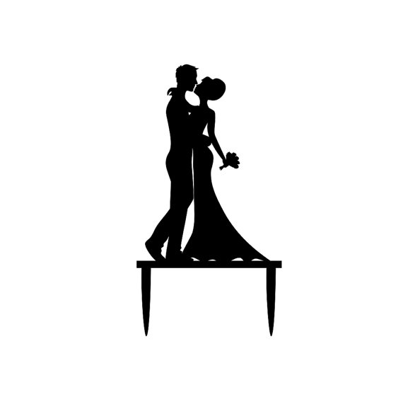 570x571 Bride And Groom Cake Topper Wedding Cake By Livelovedesigns7 I'M