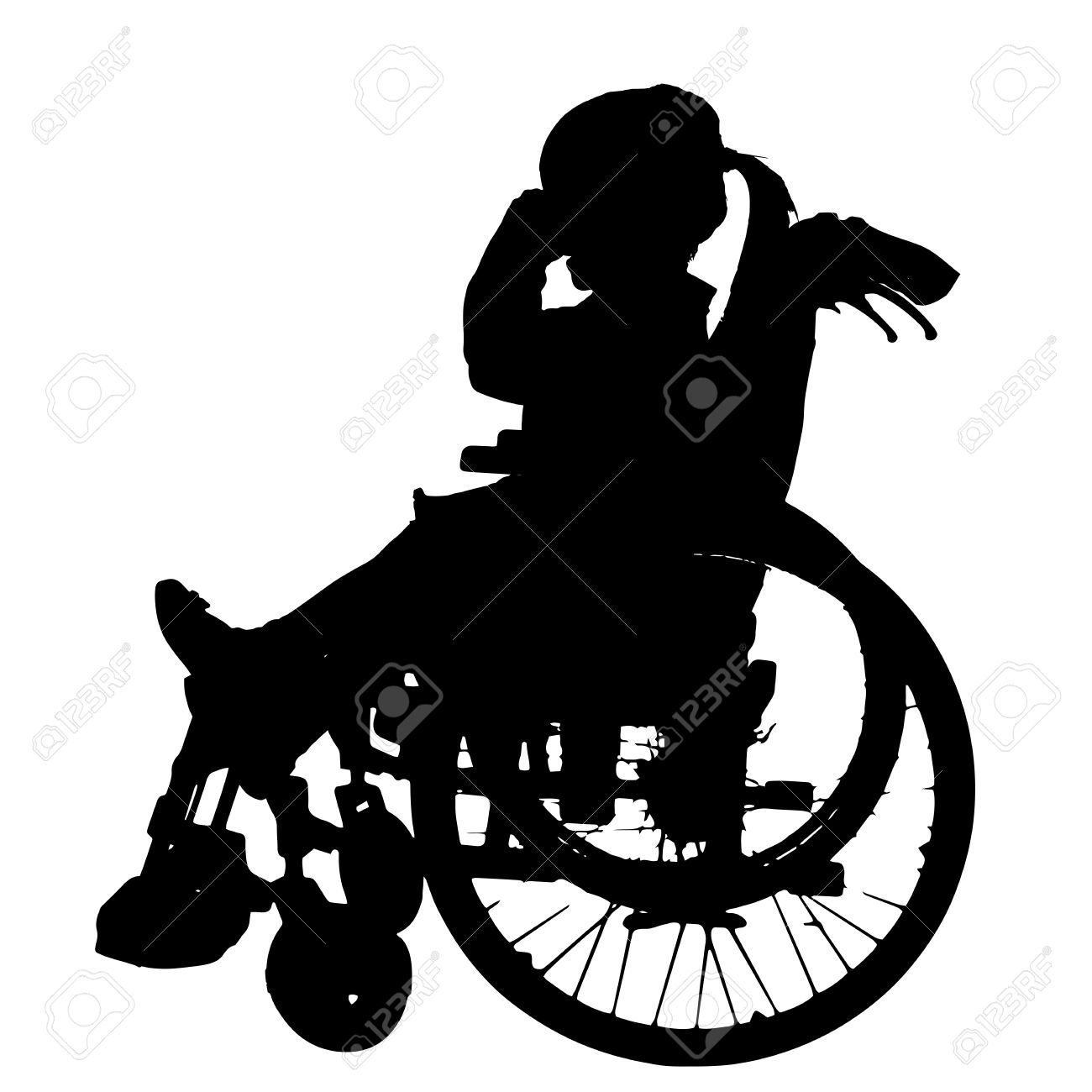 Silhouette Wheelchair